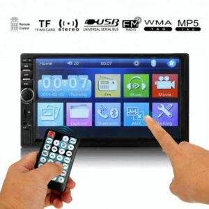 Kasetofon me ekran Universal Per Muzike Te bukur ne makina me Mp4 Mp5 Mp3