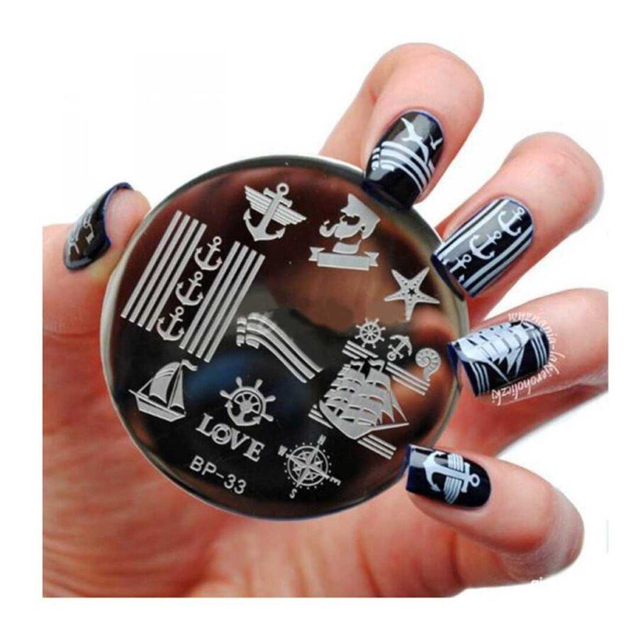 pllake metalike per thonjte me dizajne te ndryshme nails art dyqan taxi porosit blerje bli online