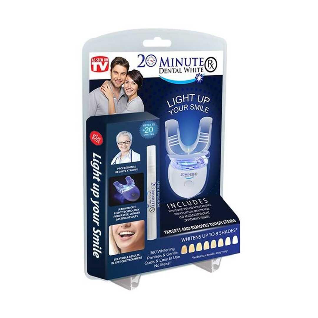 20 minute dental white per dhembe te bardhe zbardhja e dhembeve ne kushte shtepie