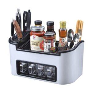 Mbajtese-per-kuzhinen me-vend-per-aksesore-dhe-rafte-te-vogla