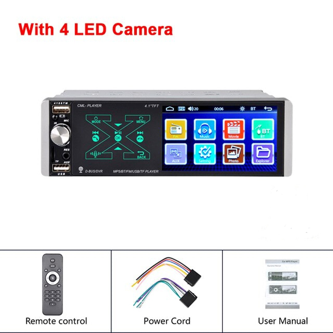 Podofo 1 din 4 1 MP5 Player Touch HD Capacitive Screen Smart AI Voice Function Bli Online Dyqan Taxi