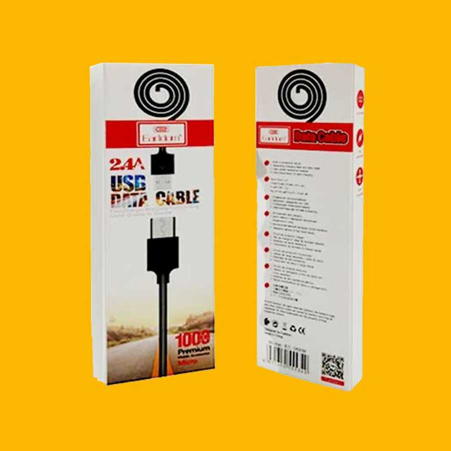 Kabell Karikimi Earldom 2.4A USB Data Cable bli online dyqan taxi