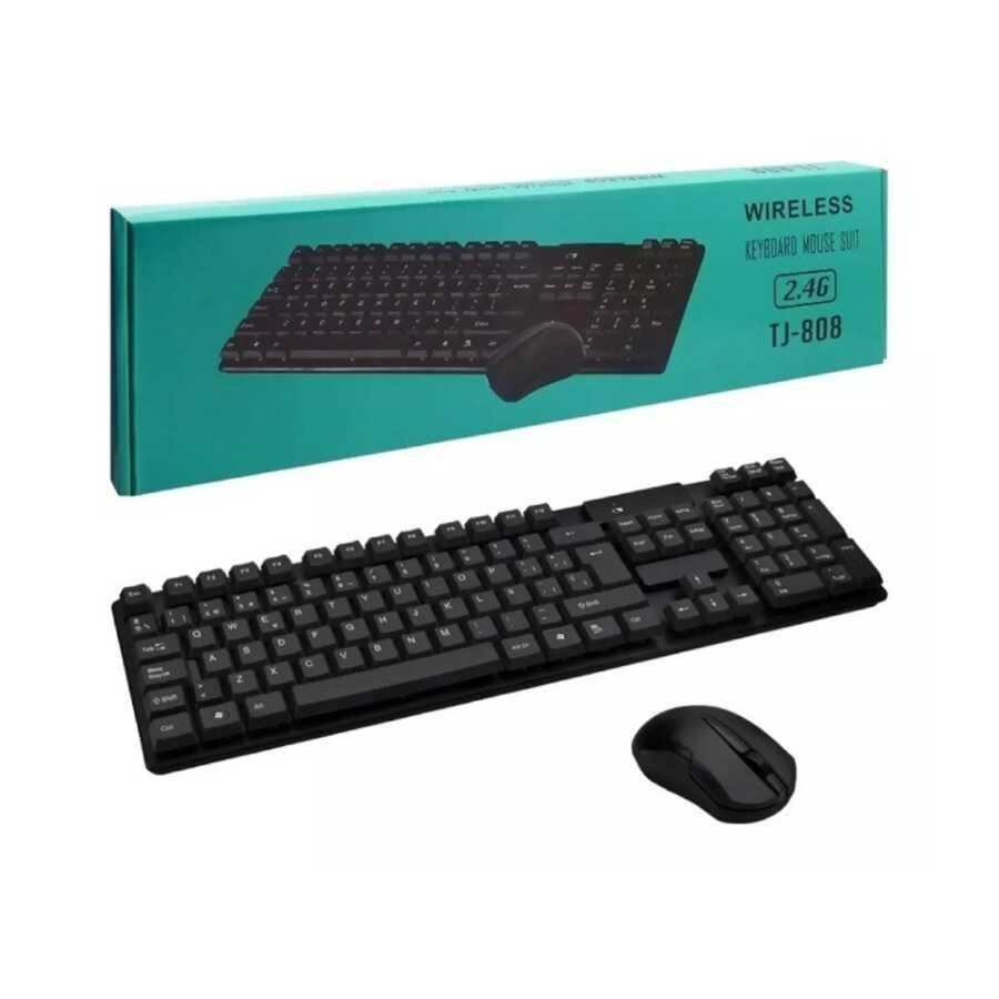 Wireless keyboard mouse suit Tastiere TJ 808 bli online dyqan taxi