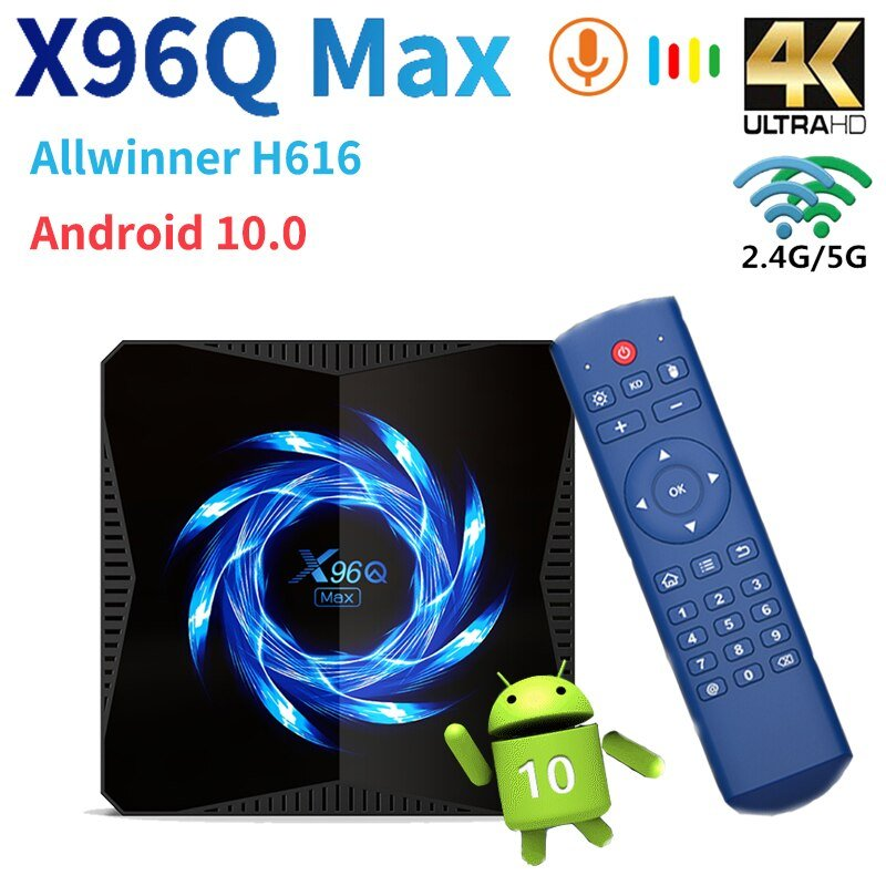 X96Q max smart tv box android 10 online ne dyqan taxi